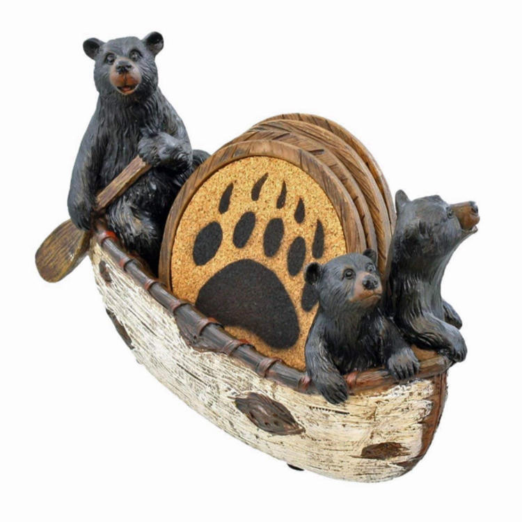 Bear garden statue resin bear figurine ornement  for home