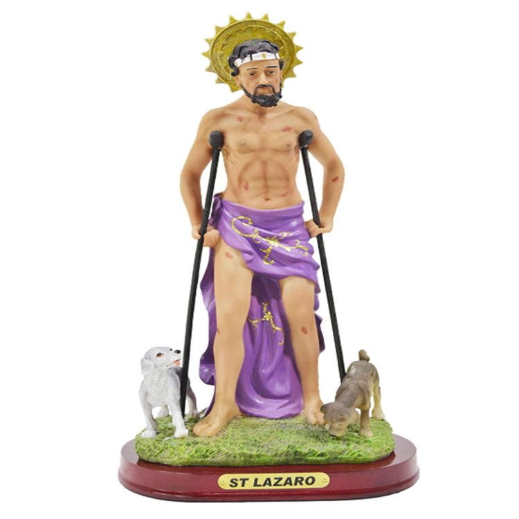 Saint Lazarus statue art craft home decoration resin figurine