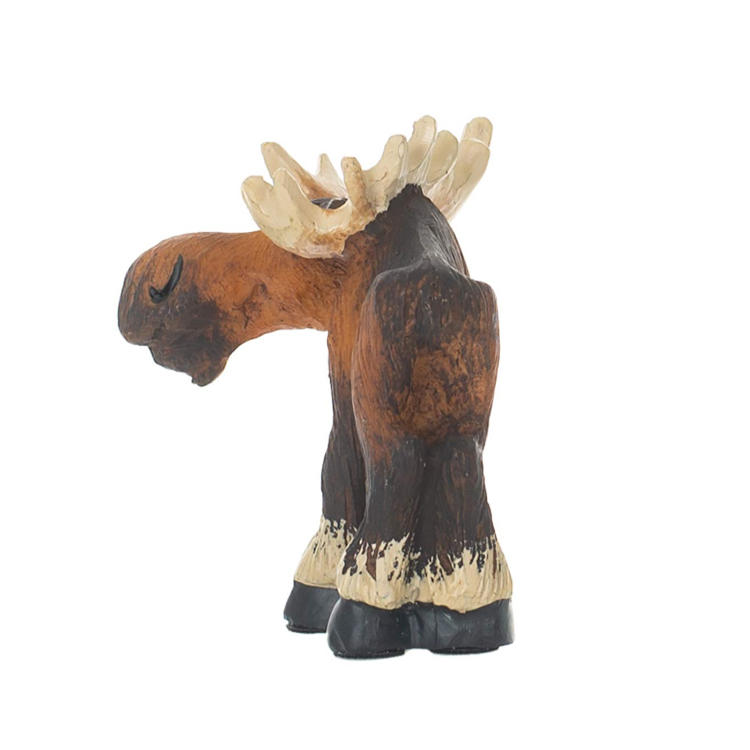 Handmade  resin moose statue home decor garden figurine