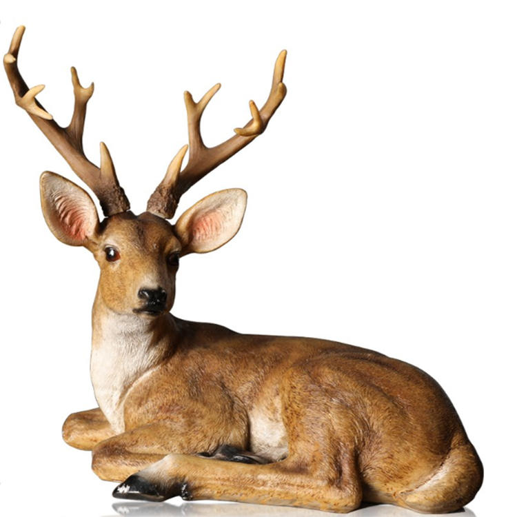 Resin statue animal deer figurine decor home statue