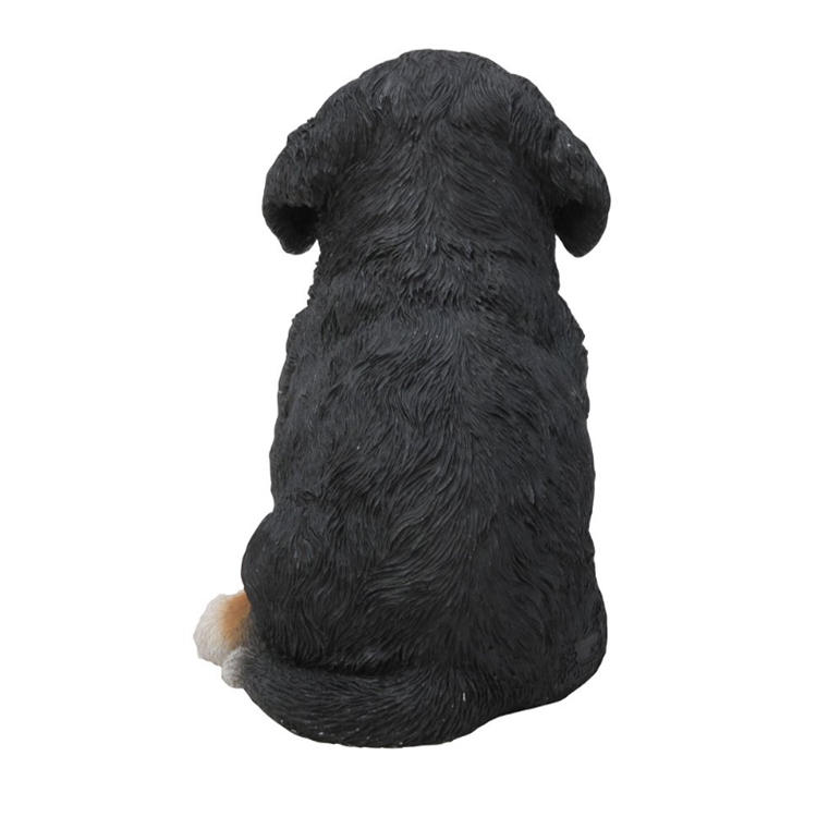 Bernese dog statue pupp figurine resin home decoration