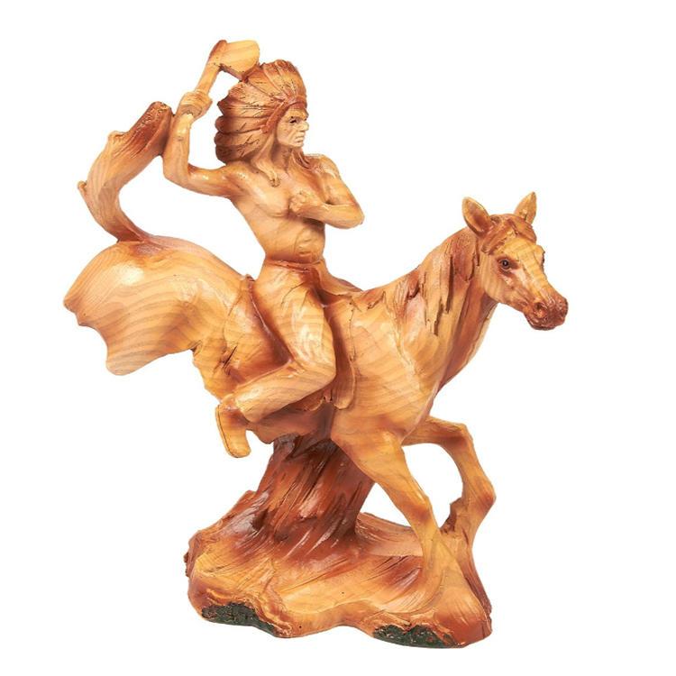 Native american indian figurine horse statue warrior statue