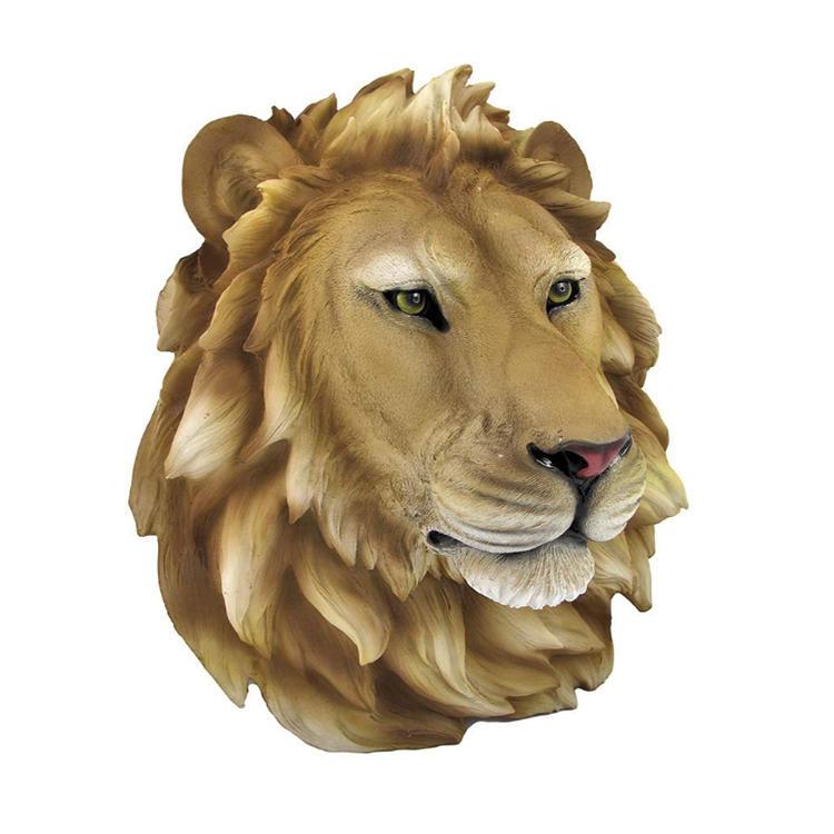 Lion head statue decorative wall figurine resin animal head