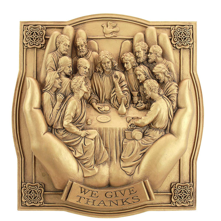 We giving Thanks lord supper wall decor resin fugurine ornament