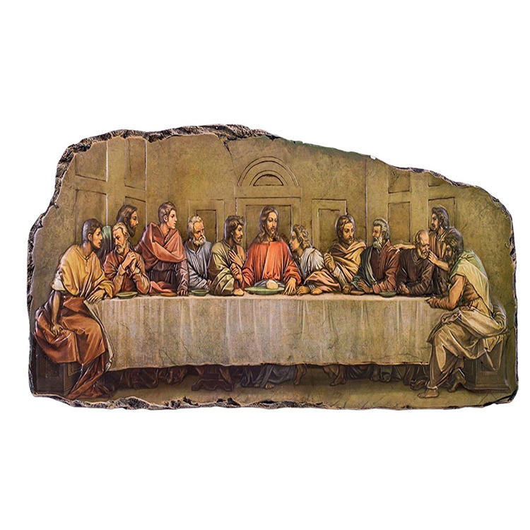 The last supper resin statue decorative plague wall figurine