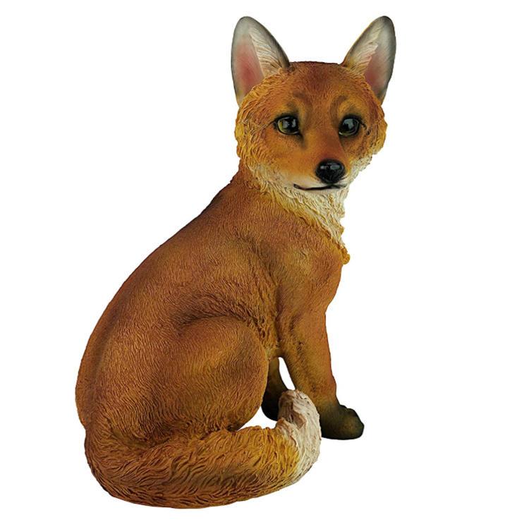 Garden Animal Statue resin ornament fox figurine
