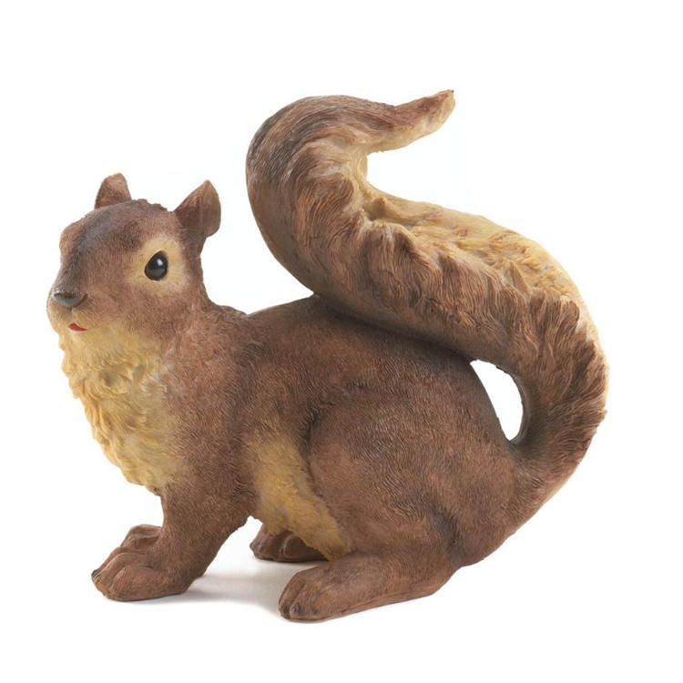 Resin garden squirrel statue cute anmial figurine decor