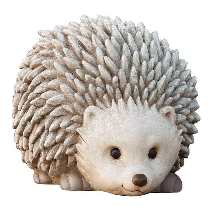 Garden figure Hedgehog statue polyresin animal decor