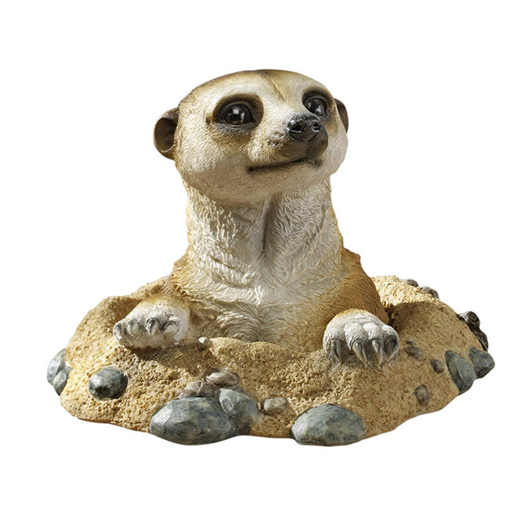 African resin statue meerkat  decorative polyresin figurine