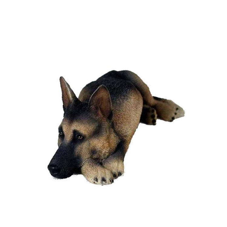 German shepherd statue animal resin decor shepherd figurine