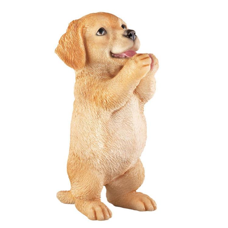 Statue dog golden retriever  praying puppy figurine