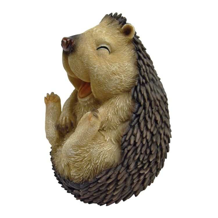 Animal figure decoration polyresin hedgehog statue garden ornament