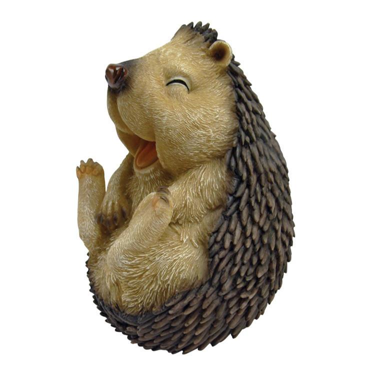 Animal figure decoration polyresin hedgehog statue garden ornament