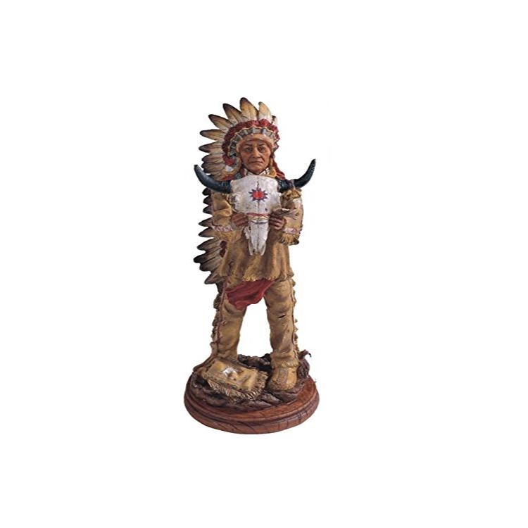 Native American statue animal skeleton decoration bison figurine