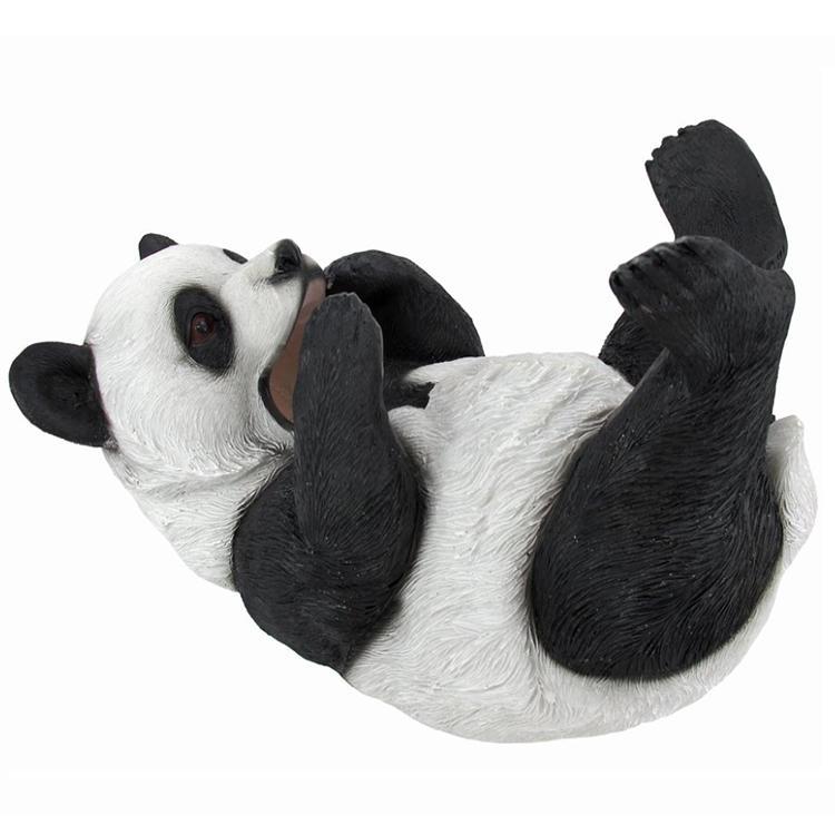 Outdoor panda decor statue   figurine polyresin animal decoration
