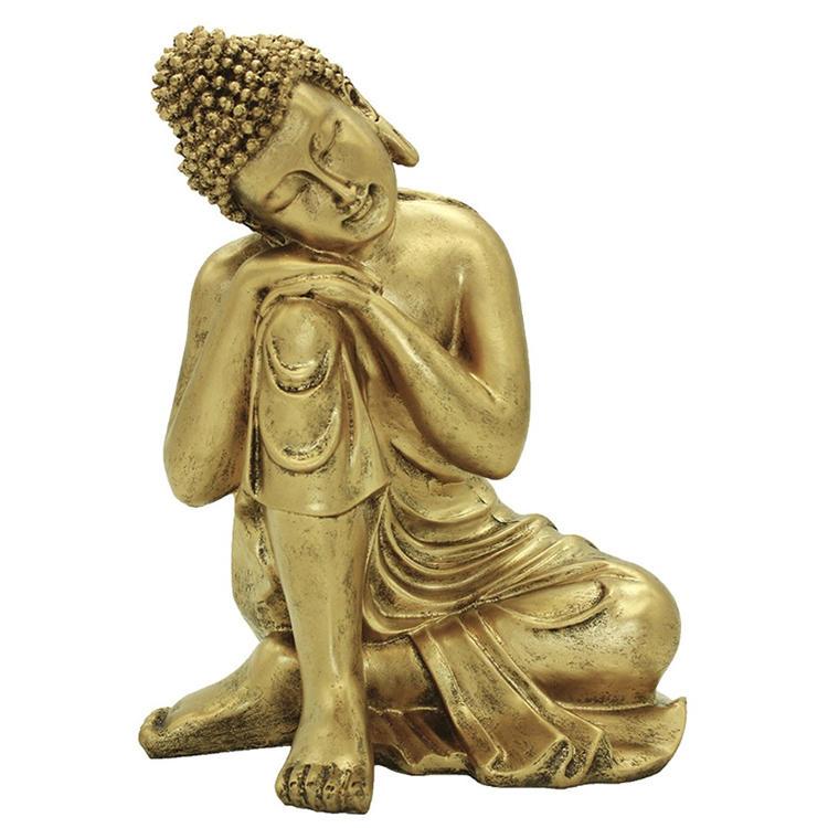 Figurine resin handmade  buddha bronze  religous statue