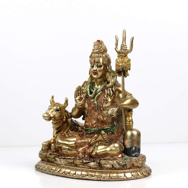 Bronze shiva resin statue figurine  religious home ornament