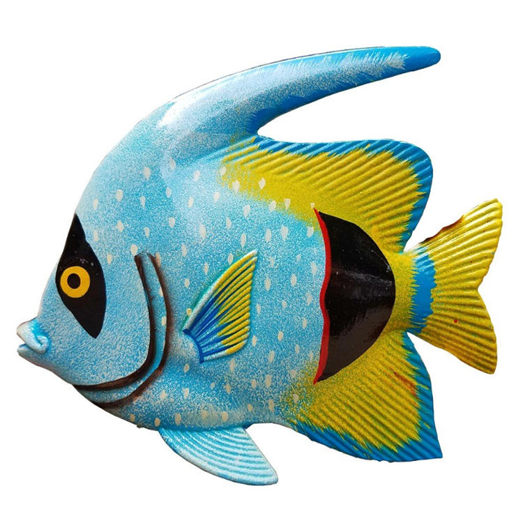 Hotel home wall decor 3d resin fish art statue figurine