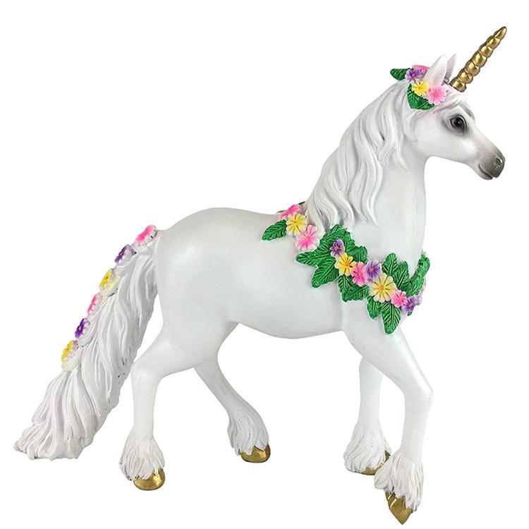 Golden unicorn resin craft garden figurine decoration
