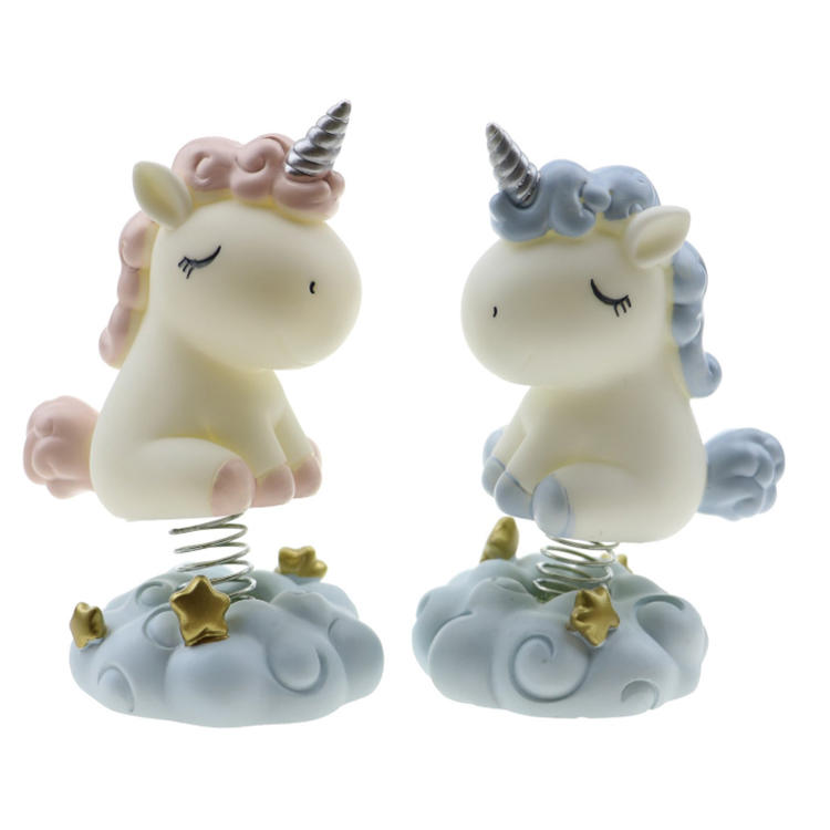 Hot sale unicorn resin craft dashboard decoration