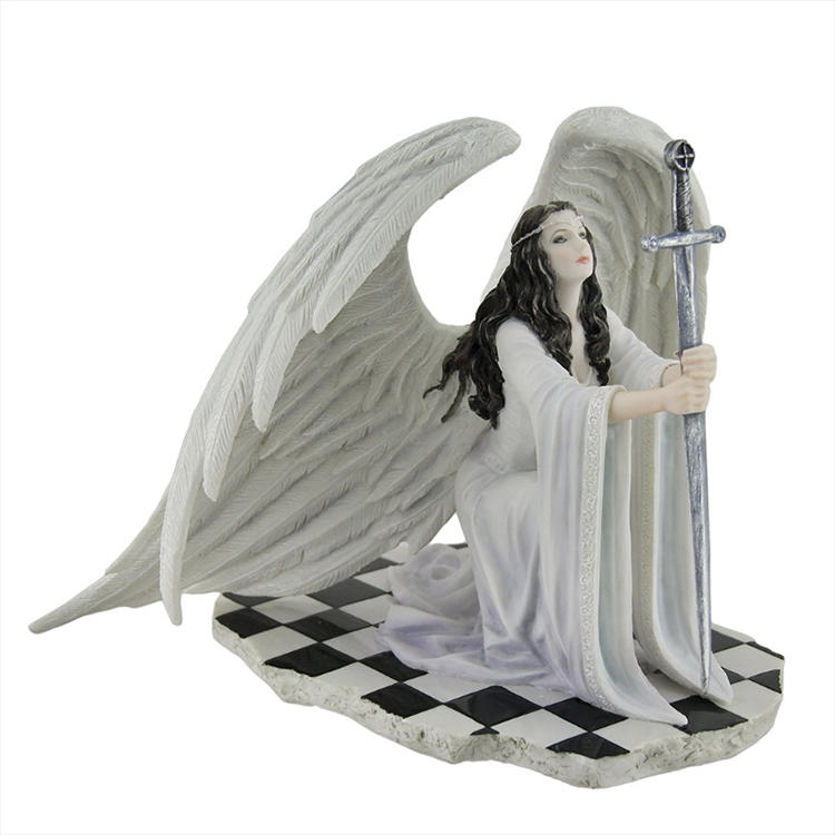 Custom resin angel wing pray statue decor