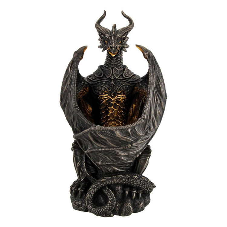 Handmade bronze resin dragon statue  dragon ornament