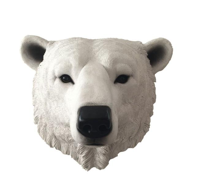 Resin wall animal  bear head sculpture statue