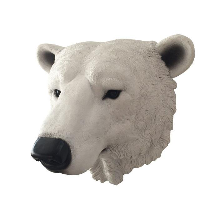 Resin wall animal  bear head sculpture statue