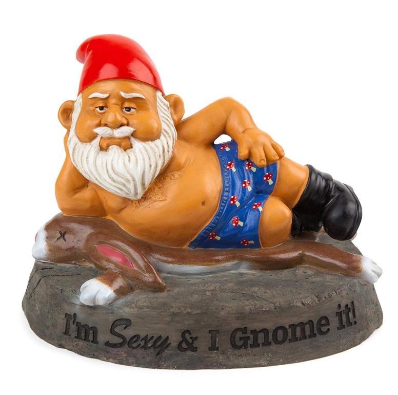 Sexy garden gnome polyresin statue figurine