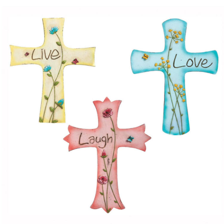 Cross wall decor resin crucifix home decoration