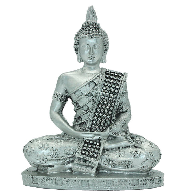 Home decor silver buddha Thai statue figurine