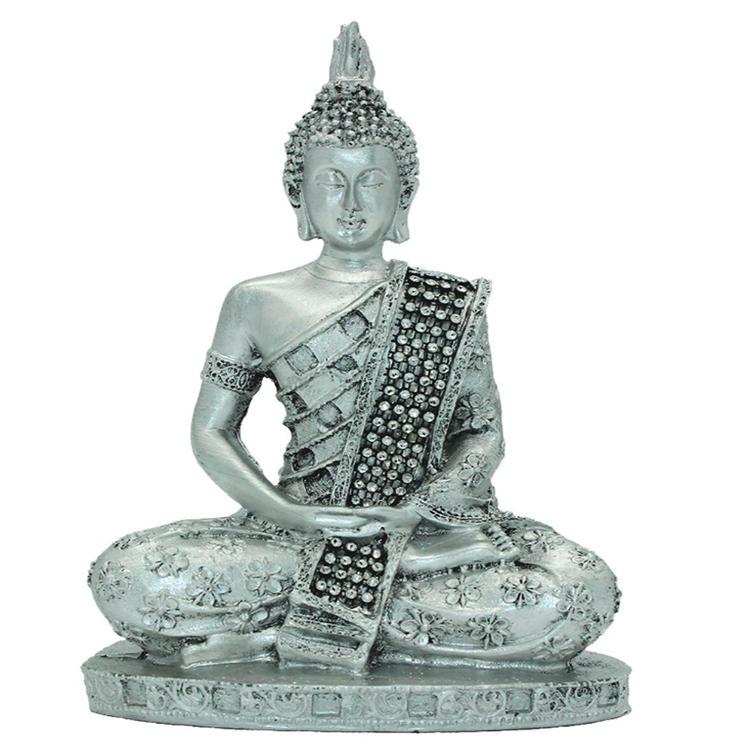 Home decor silver buddha Thai statue figurine