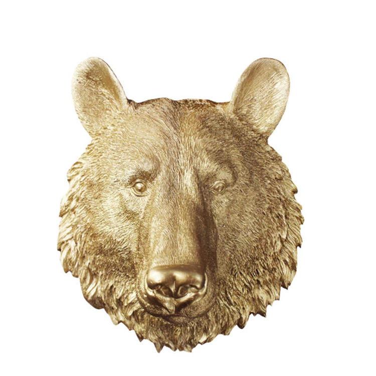 Wall chambers resin mini bear headfigurines craft