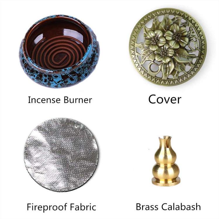 Porcelain Incense Holder Coil Ceramic Home Incense Burner