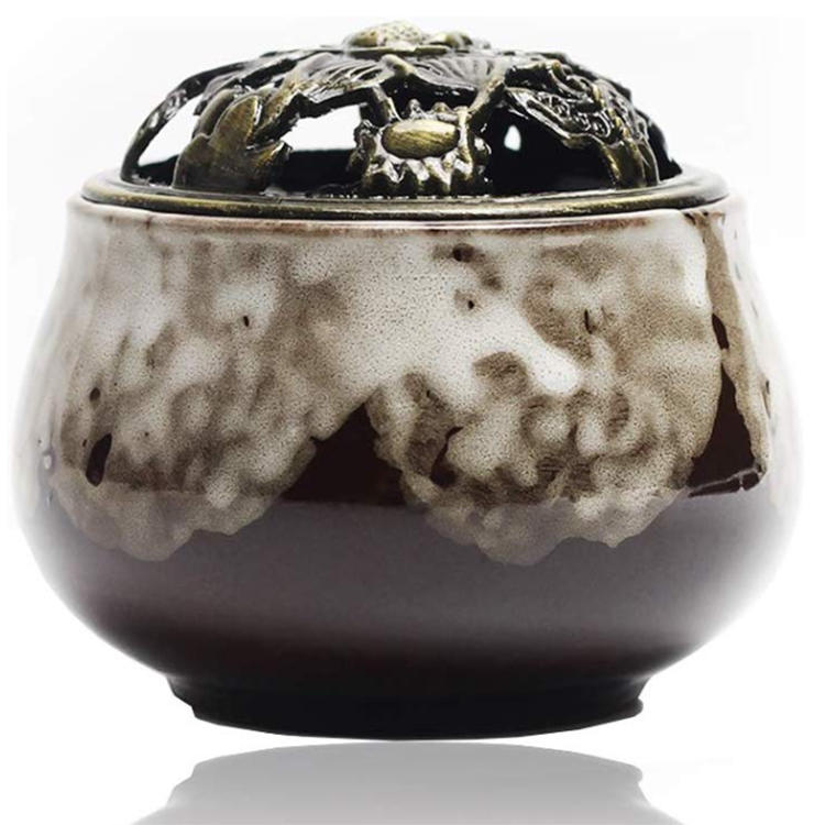 Incense Holder for Stick Round Burner, ceramic Incense-Burner