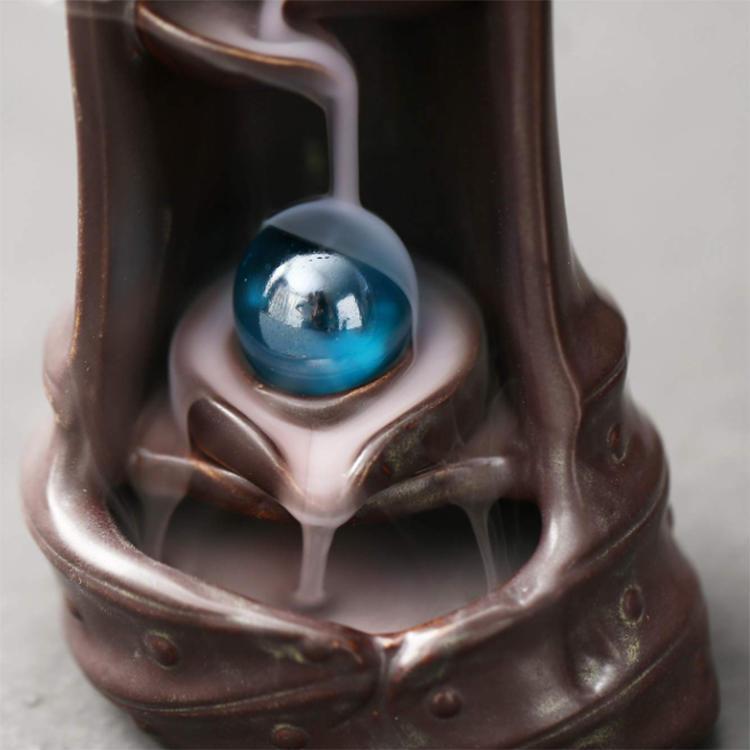 Creative Waterfall Backflow Ceramic Incense Burner Holder Home Decoration