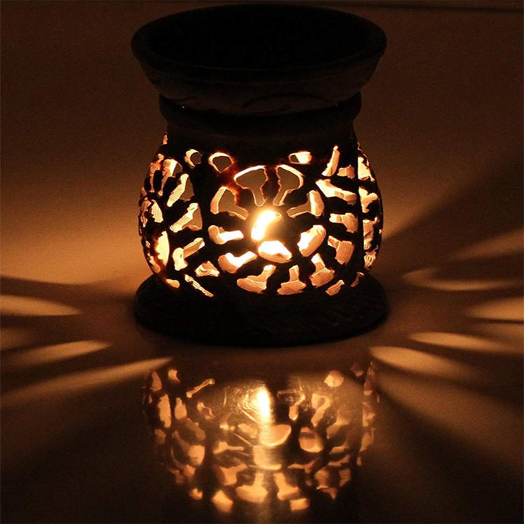 Oil Aromatherapy Diffuser Warmer Burner Ceramic House Tealight Tolder