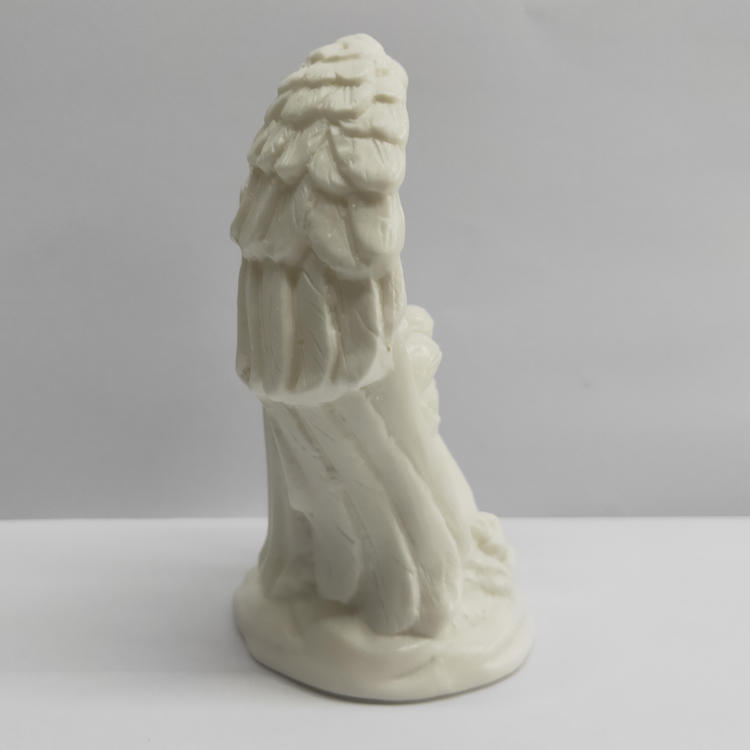 Nativity Illuminated Ceramic Holy Family Bisque