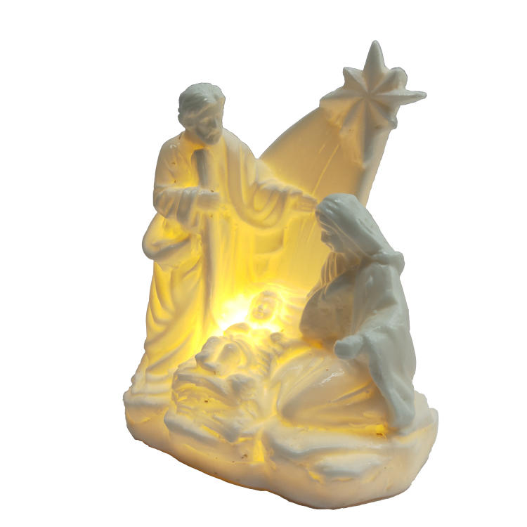 Vintage Holy Family Figurine Nativity Scene Statue