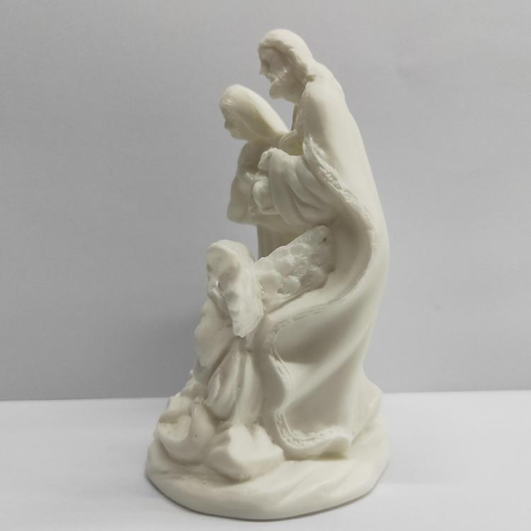Vintage Bisque Ceramic Holy Family Catholic Home Decor