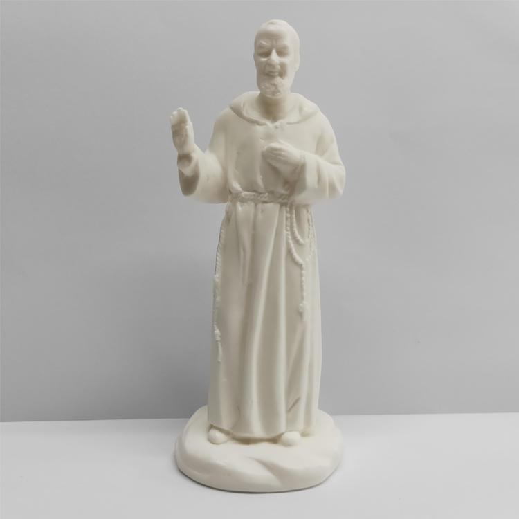 Ceramic Statue San Francis Figurine LED Illuminated decor