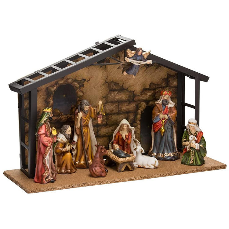 Christian Home Decor Resin Nativity Set Figures Chirstmas Gifts 7 Inch Statues