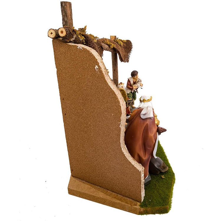 Christmas Day Home Ornamenst Nativity Set, 11 Pcs Religious Nativity Figures and Stable Set