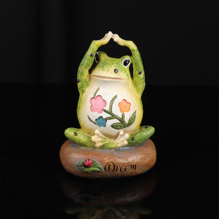 Home Garden Decor Ornament Gift Resin Frog Garden Statue Frog Playing Outdoor Sculpture Indoor Figurines