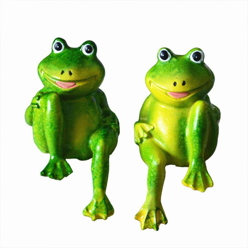 Garden Welcome Frogs Figurine Statues Sculptures Frogs Sitting Figurine Lawn Garden Ornaments