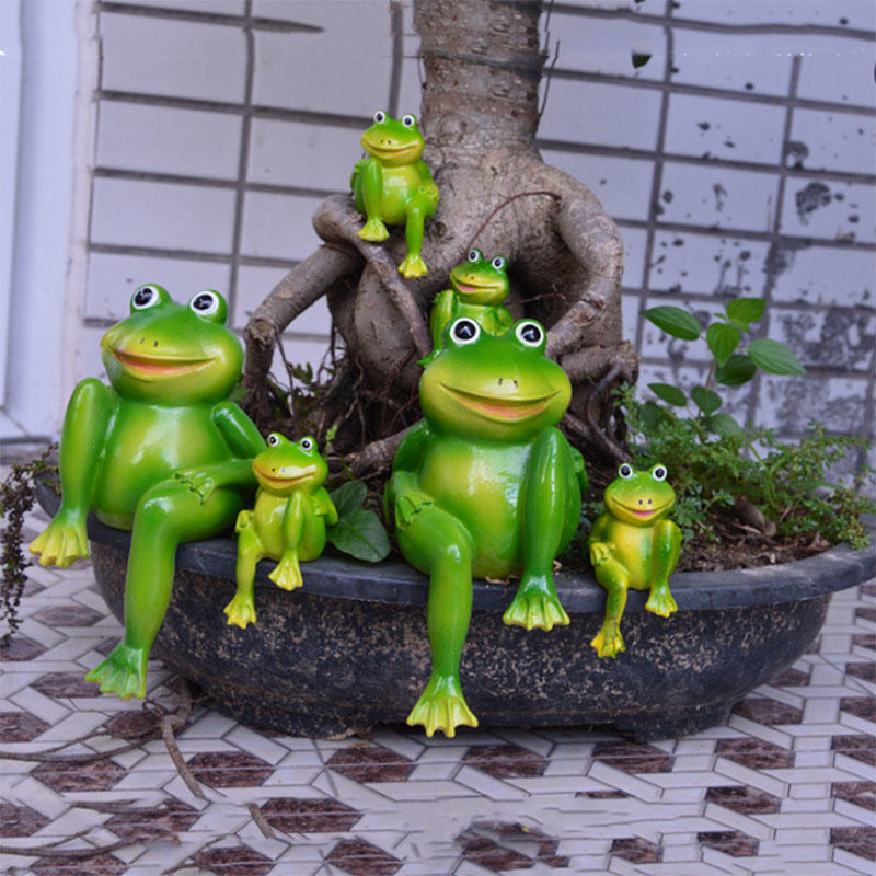 Garden Welcome Frogs Figurine Statues Sculptures Frogs Sitting Figurine Lawn Garden Ornaments