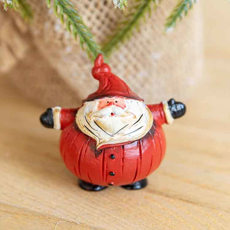 Merry Christmas Santa Claus Home Decor, Christmas Figurine Hand Painted Resin Crafts