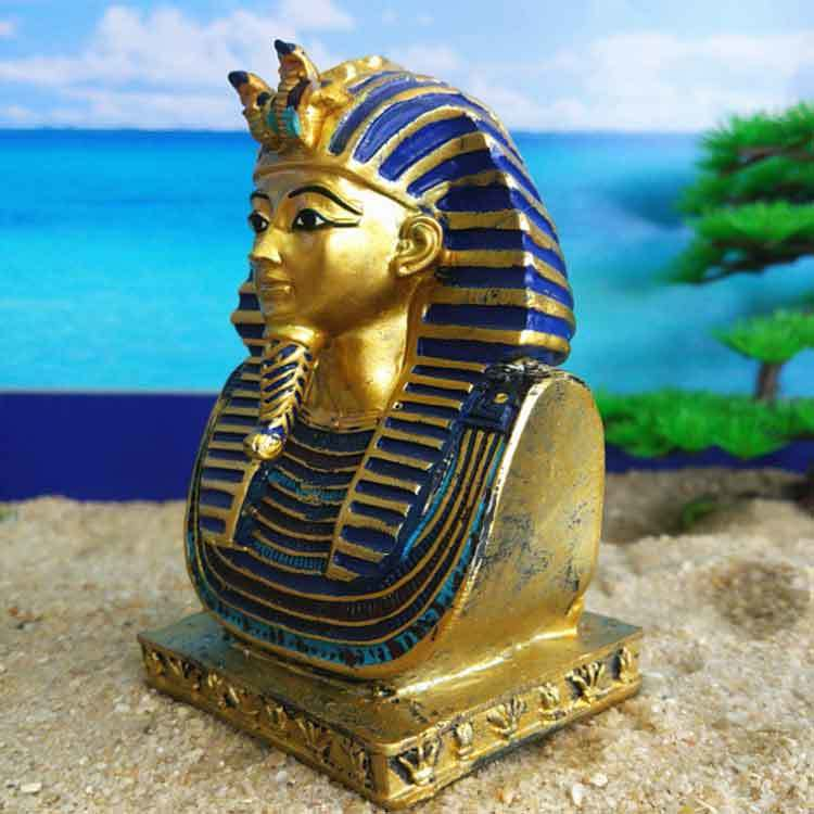 Egyptian Pharaoh Resin Statue Hand Painted Home Decor Gifts Figurines