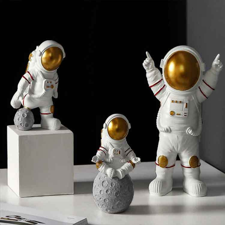 Kids Boys Living Room Bedroom Decor Astronaut Figure Statue Figurine Sculpture