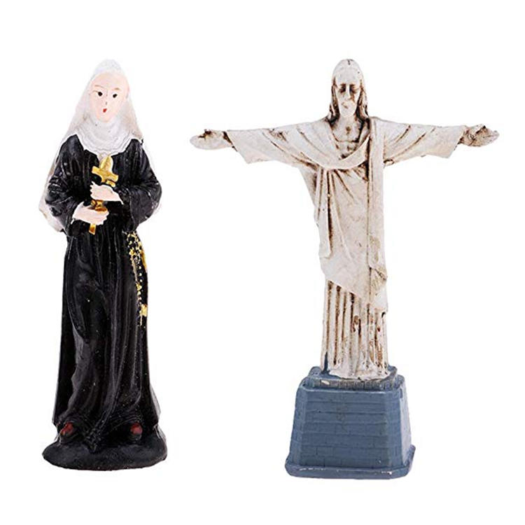 Factory made miniature figures jesus christ statue